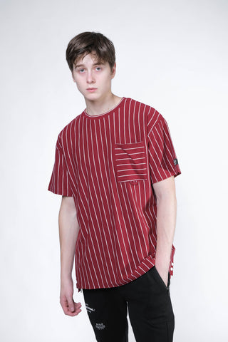 Stripe Pocket Tee (Red/White) - [MIGO Menswear]