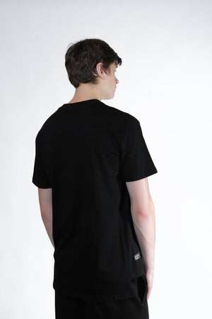Hong Kong Side Split Tee (Black) - MIGO