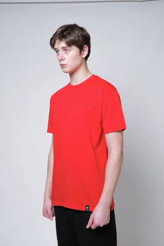 Basic SS Tee 200 (Red) - [MIGO Menswear]