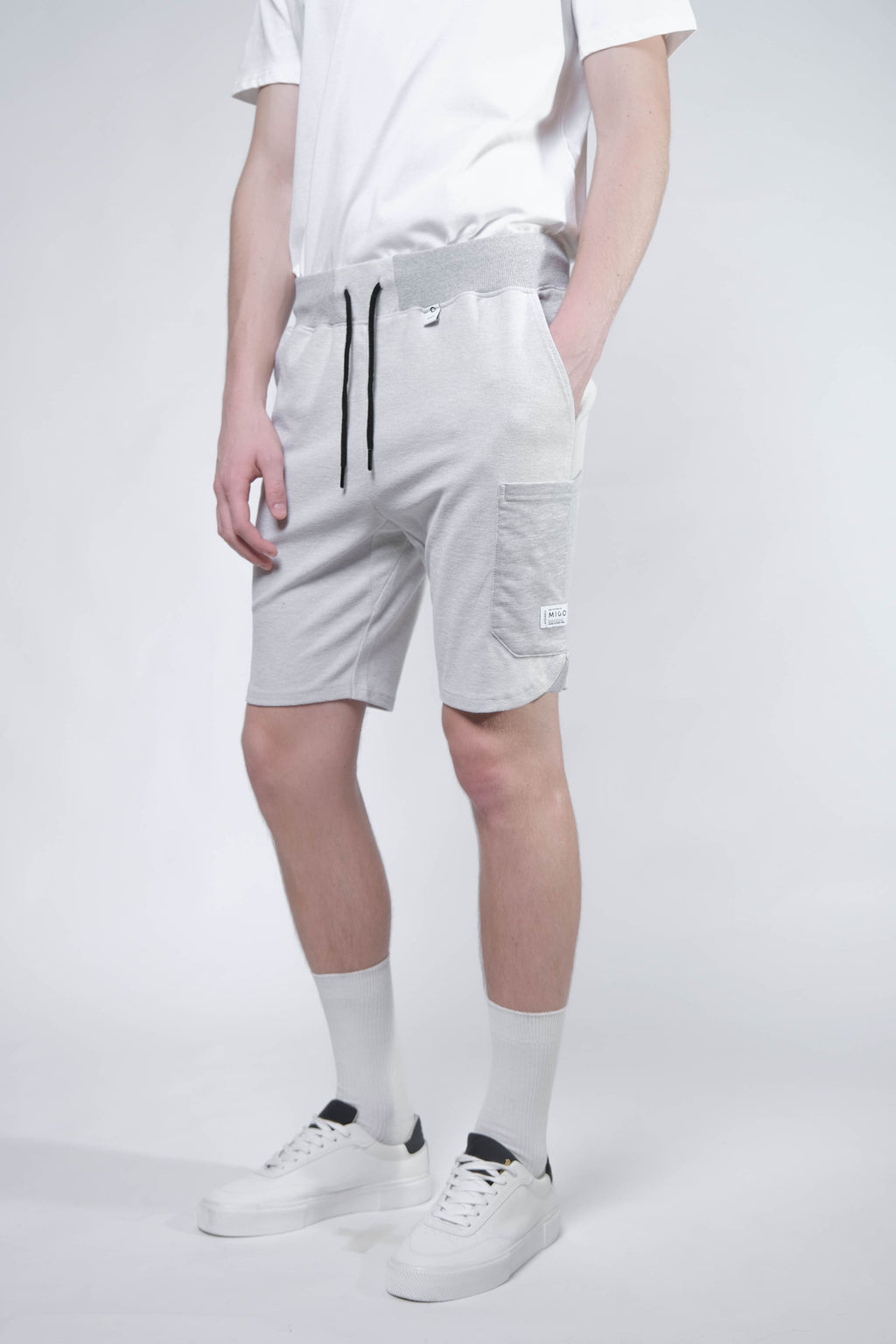 Reversed Cargo Shorts (Grey Melange) - [MIGO Menswear]