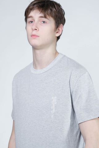 Hong Kong Side Split Tee (Grey Melange) - [MIGO Menswear]