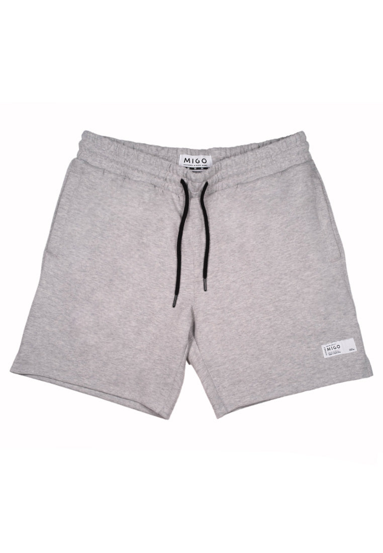 Interlock Jogger Shorts (Grey Melange) - MIGO