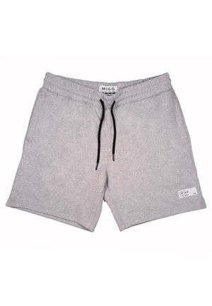 Interlock Jogger Shorts (Grey Melange) - [MIGO Menswear]
