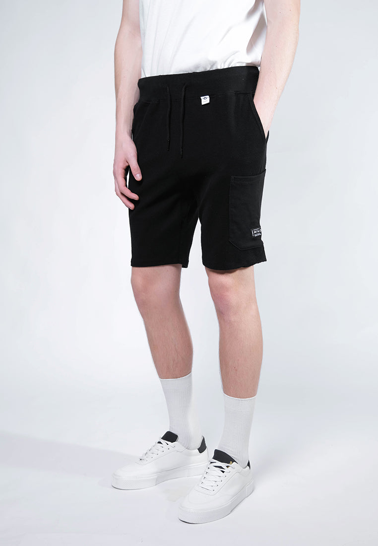Reversed Cargo Shorts (Black) - [MIGO Menswear]