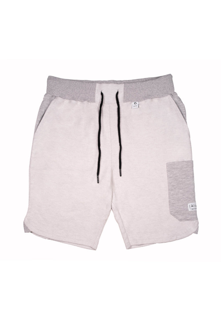 Reversed Cargo Shorts (Grey Melange) - MIGO