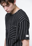Stripe Pocket Tee (Black/White) - [MIGO Menswear]