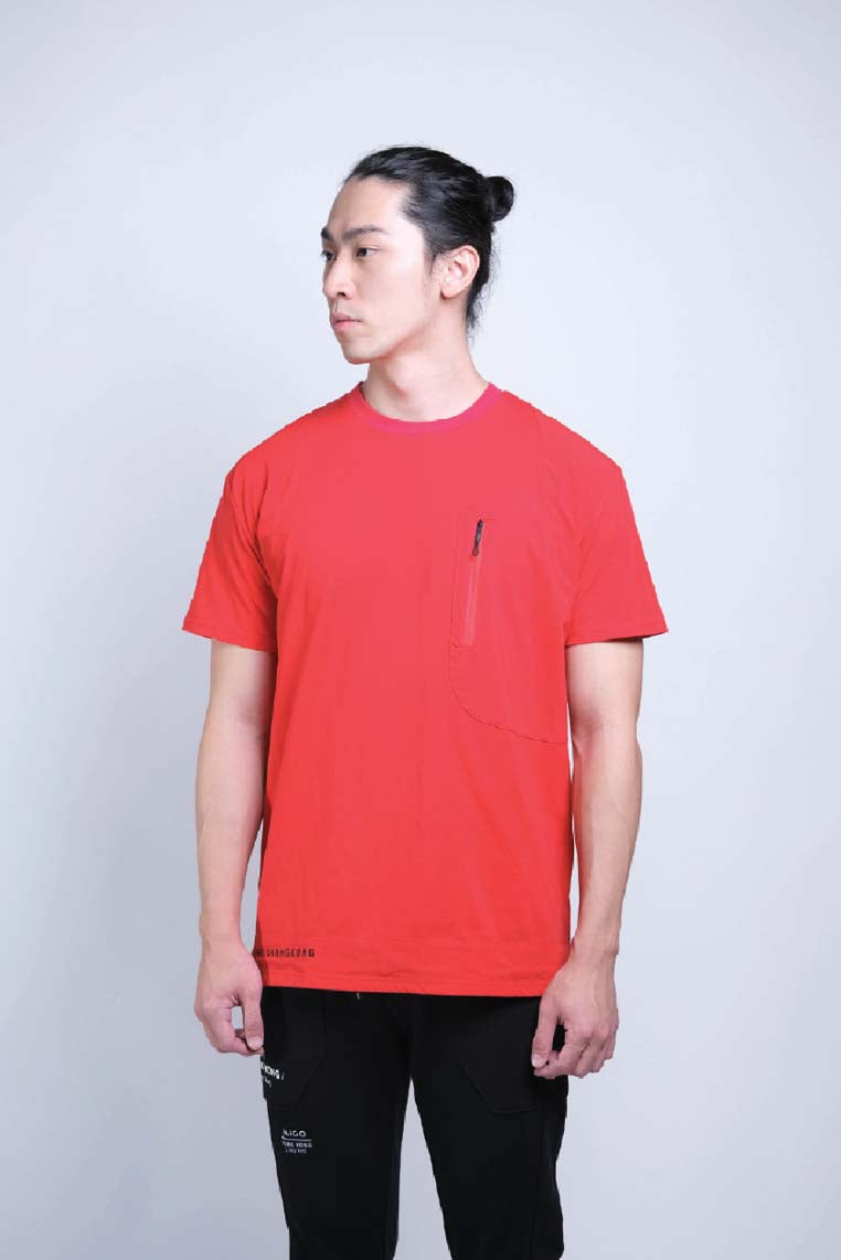 Tagging Pocket Tee (Red) - MIGO