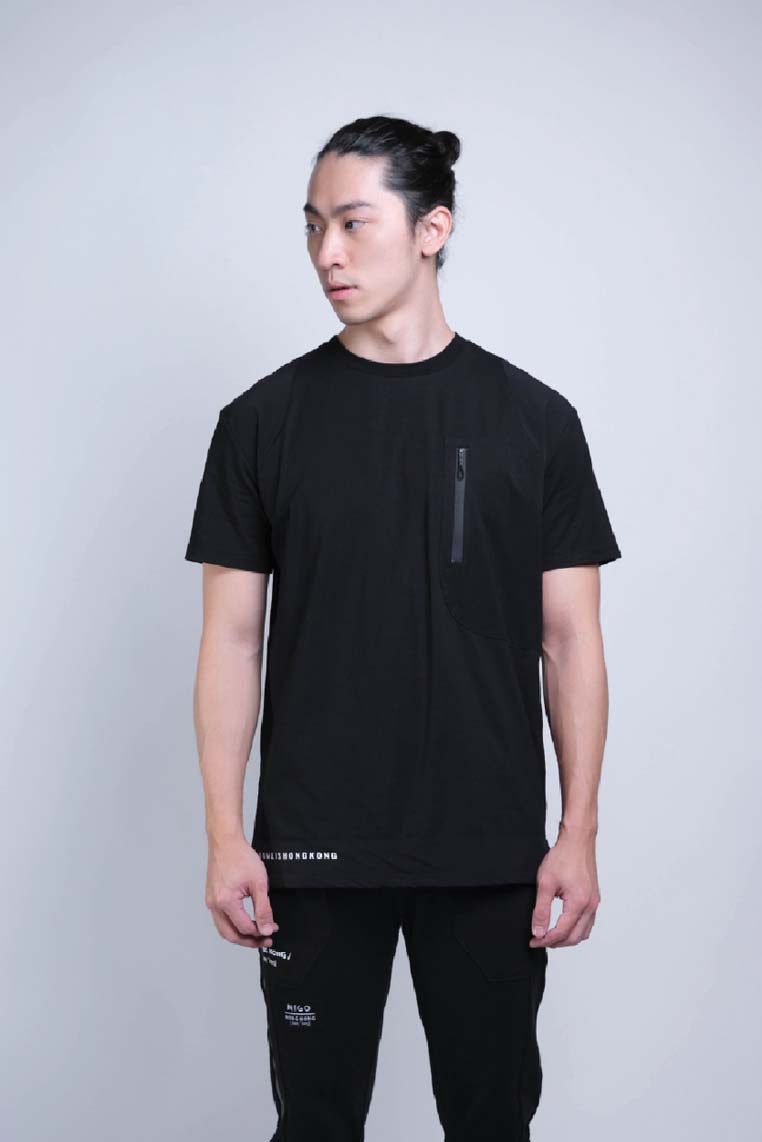 Tagging Pocket Tee (Black) - MIGO