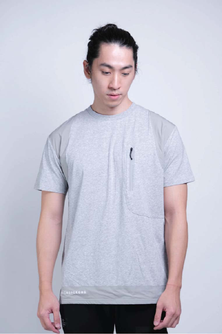 Tagging Pocket Tee (Grey Melange) - MIGO