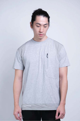 Tagging Pocket Tee (Grey Melange) - [MIGO Menswear]