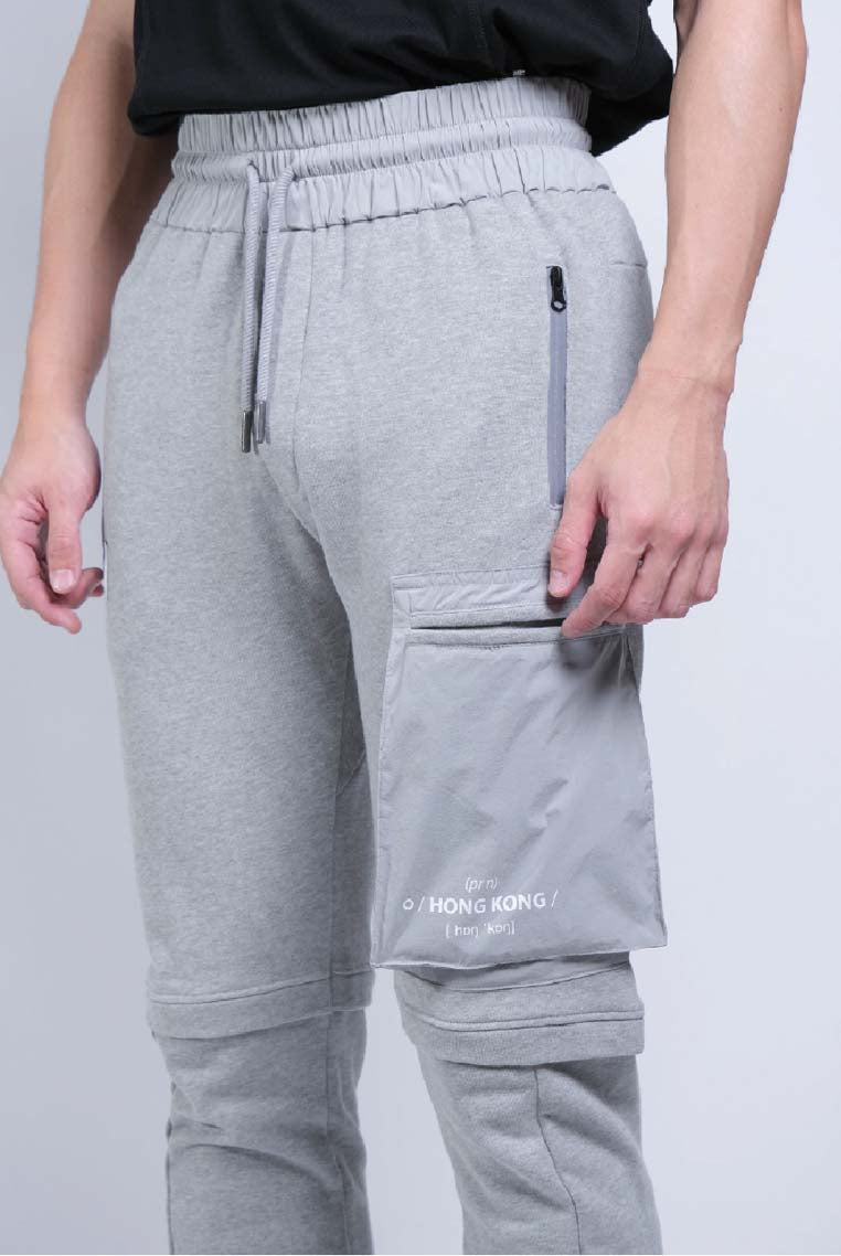 Woven Pocket Joggers (Grey Melange) - [MIGO Menswear]