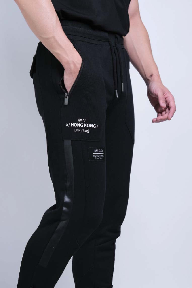 Heavy Terry Joggers (Black) - MIGO