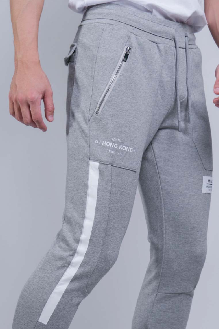 Heavy Terry Joggers (Grey Melange) - [MIGO Menswear]