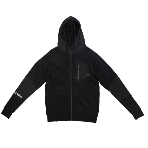 AMN20317-LIGHT ZIP HOOD - [MIGO Menswear]