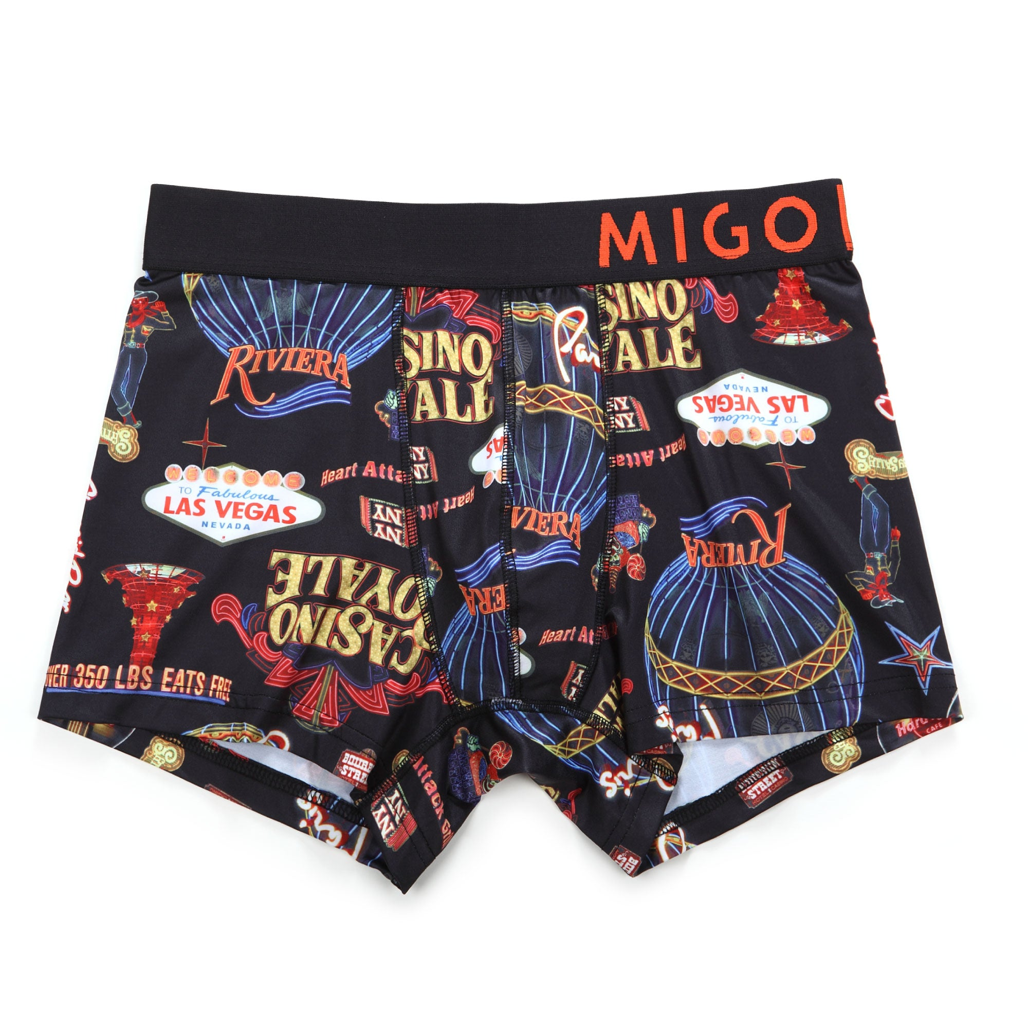 Micro Fibre Pattern Trunk (Lightbox Black) - [MIGO Menswear]