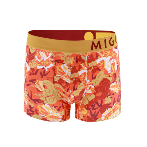Cotton Pattern Trunk (Warriors Orange) - [MIGO Menswear]