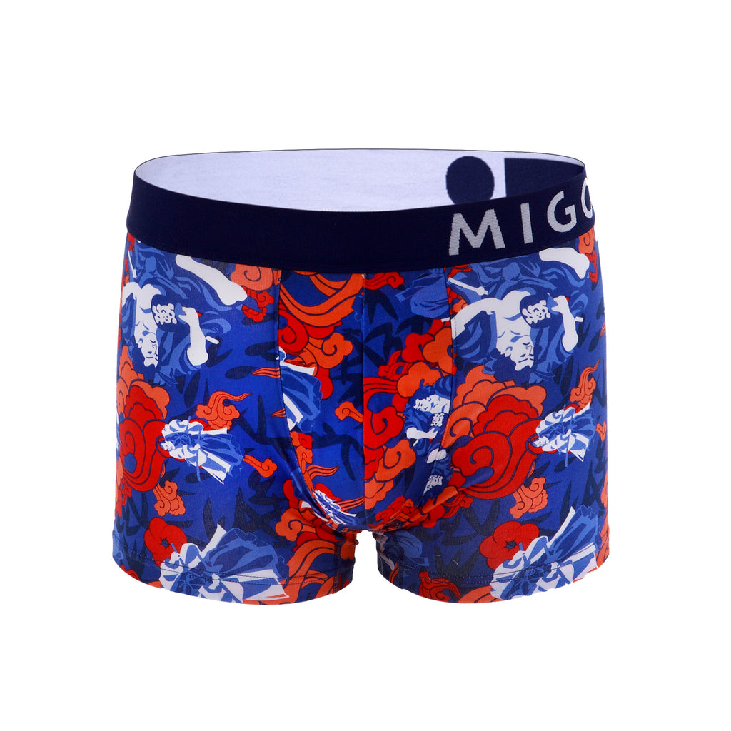 Cotton Pattern Trunk (Warriors Blue) - MIGO