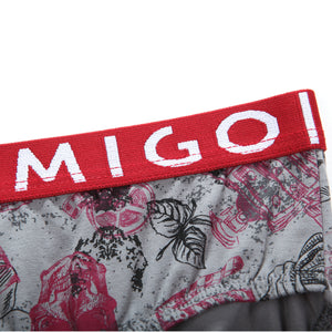 Cotton Pattern Ladies' Brief (Horror Grey) - MIGO