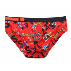 Micro Fibre Pattern Ladies' Brief (Bello Red) - [MIGO Menswear]