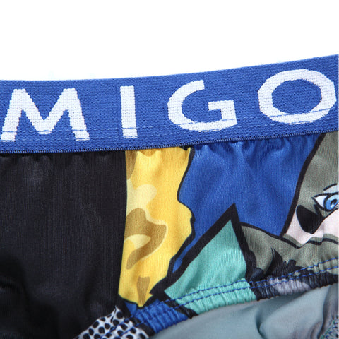 Micro Fibre Pattern Ladies' Brief (Scene Blue) - [MIGO Menswear]