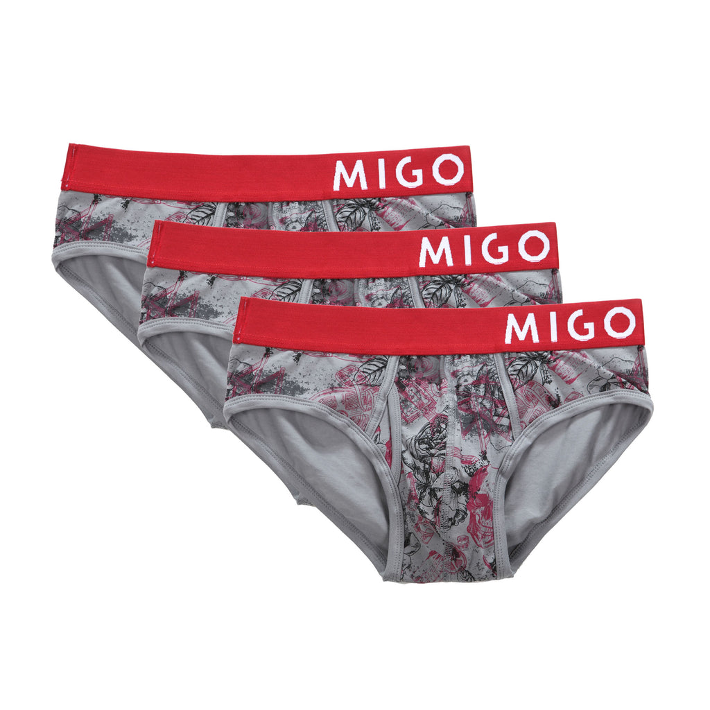 Horror Grey Briefs 3 in 1 - [MIGO Menswear]