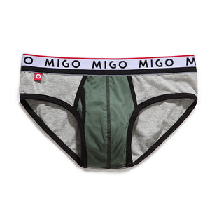 Cotton Two-tone Brief (3 In 1 Pack) - Pk.6 - MIGO
