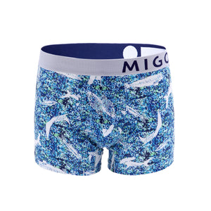 Cotton Pattern Trunk (Deepsea Blue) - MIGO