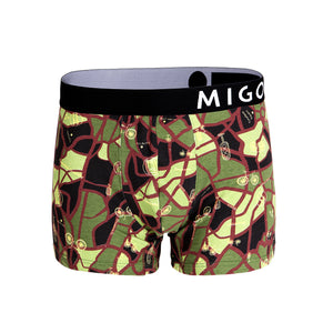 Cotton Pattern Trunk (Map Army Green) - [MIGO Menswear]
