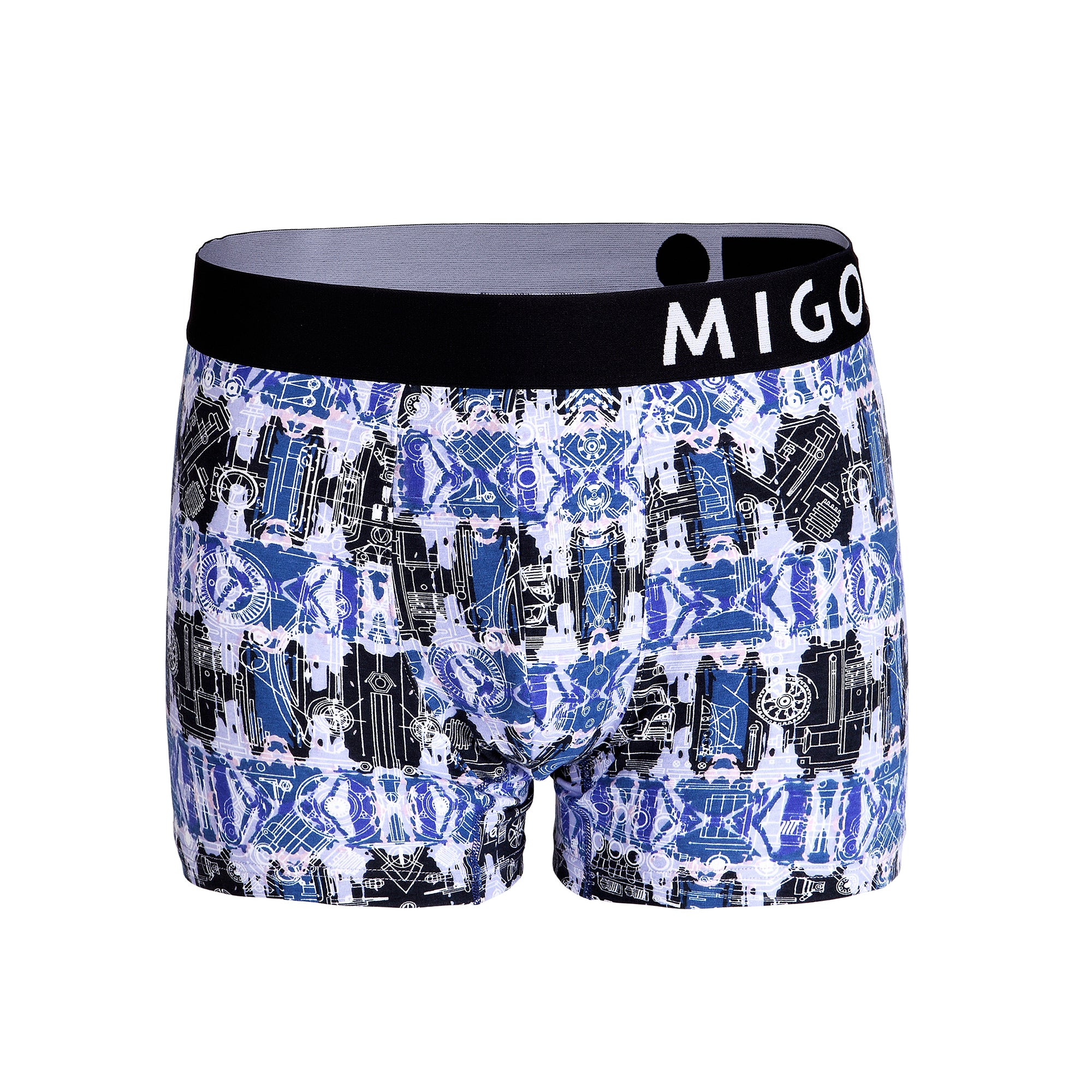 Cotton Pattern Trunk (Motorpuzzle Navy) - [MIGO Menswear]