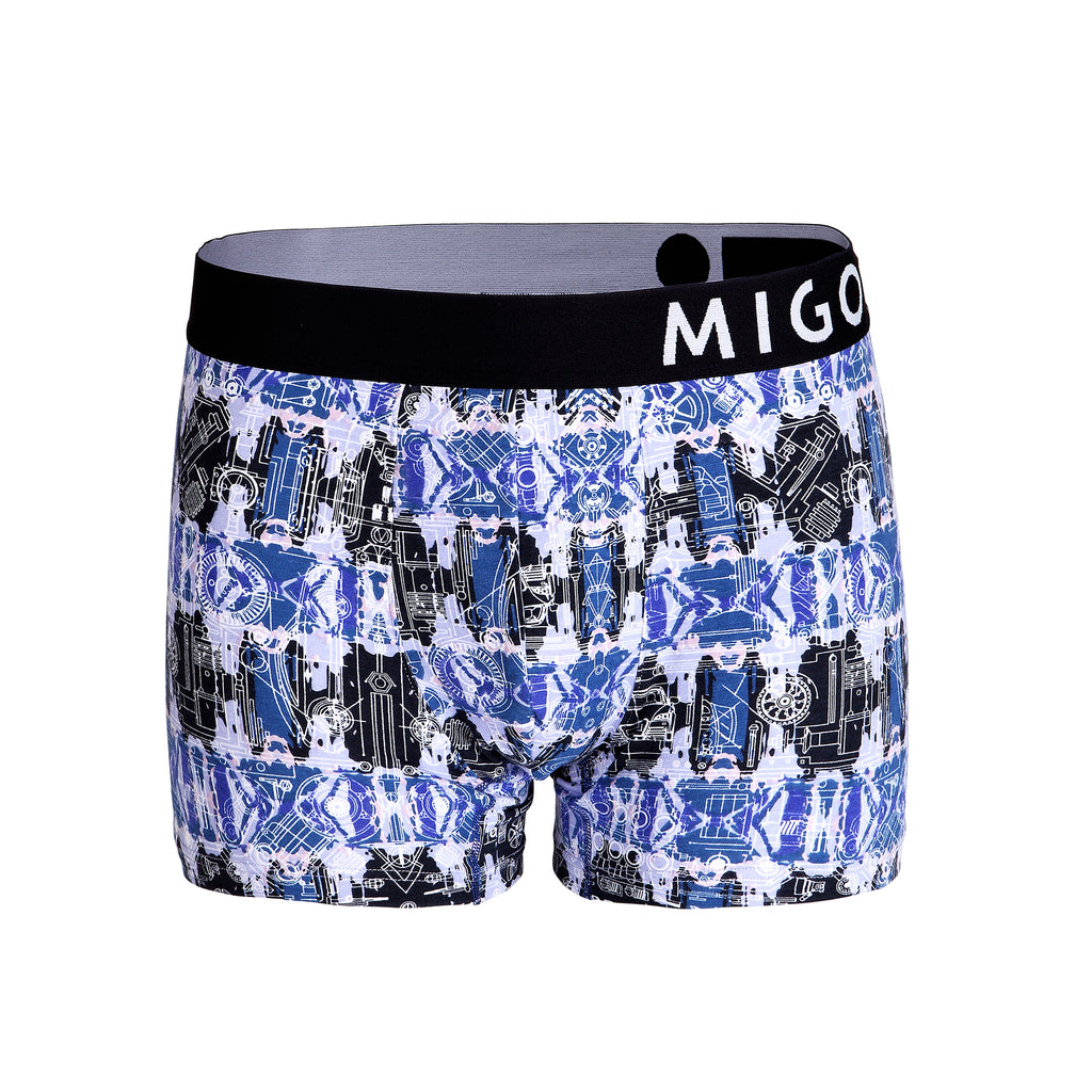 Cotton Pattern Trunk (Motorpuzzle Navy) - MIGO