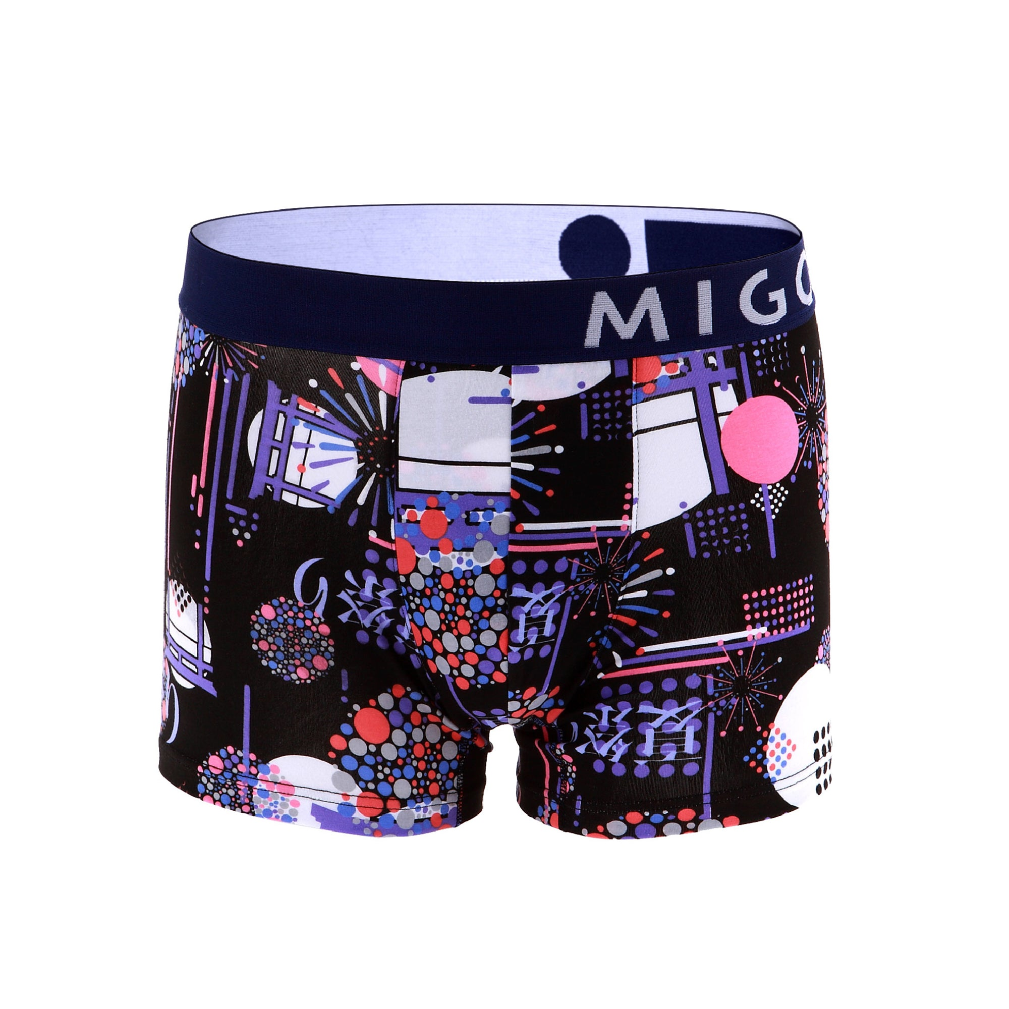 Cotton Pattern Trunk (Fireworks Black) - [MIGO Menswear]
