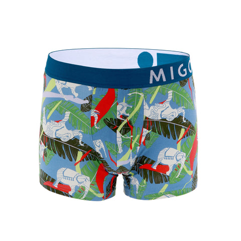 Cotton Pattern Trunk (Rainforest Blue) - [MIGO Menswear]