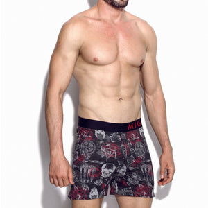 Cotton Loose Fit Pattern Boxer (Horror Black) - [MIGO Menswear]