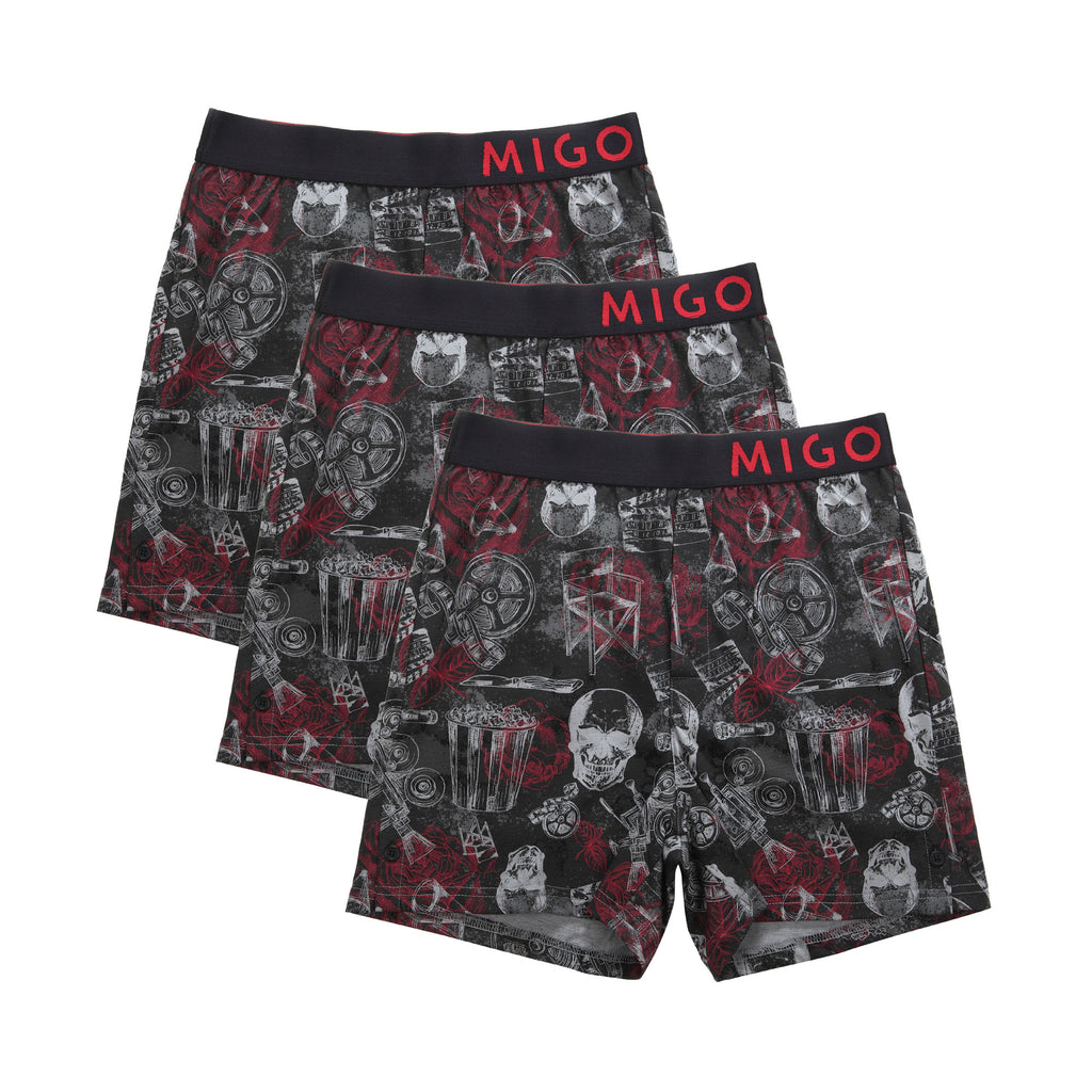 Horror Black L Boxer 3 in 1 - [MIGO Menswear]