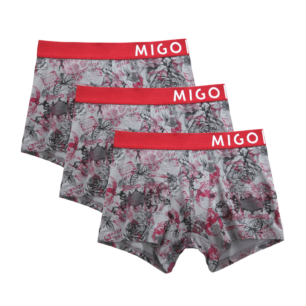 Horror Grey Boxer 3 in 1 - [MIGO Menswear]