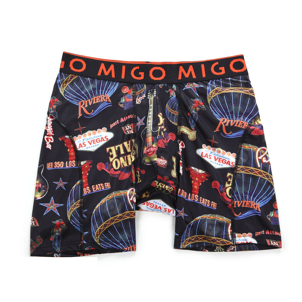 Micro Fibre Pattern Athlete Boxer Brief (Lightbox Black) - MIGO
