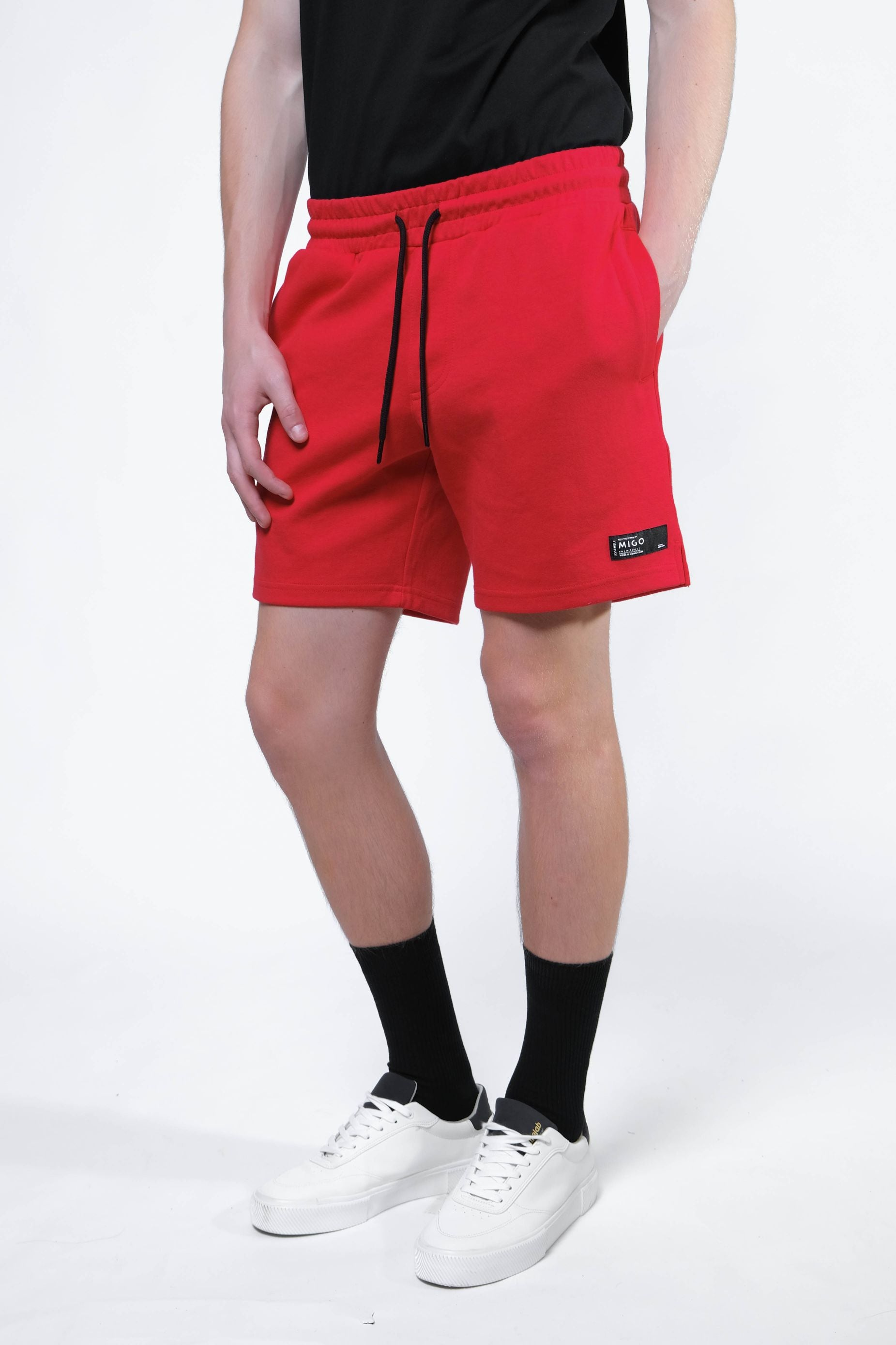 Interlock Jogger Shorts (Red) - [MIGO Menswear]