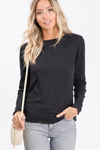 The Smocking Long Sleeve - Black