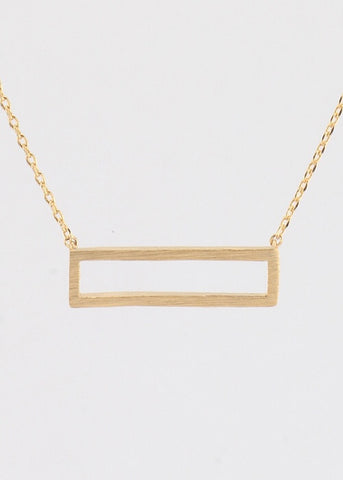 Cut-out Rectangle Necklace