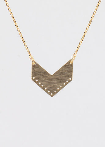V - Shape Charm Necklace