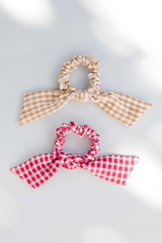 Mustard Gingham Scrunchie