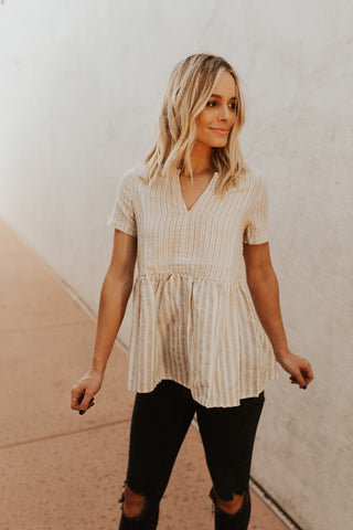 The Amanda Top - Taupe