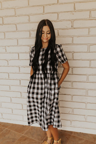 The Checkered Dress - Black