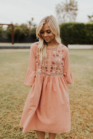 Claire Embroidered Dress