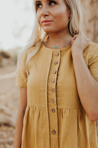 The Aspen Button Dress