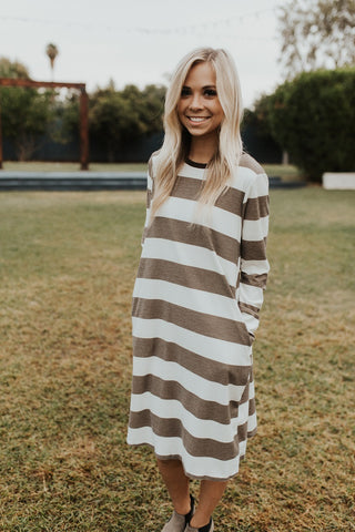The Aada Dress - Mocha