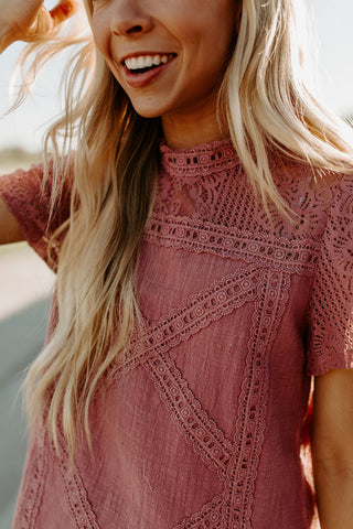 The Lacy Top - Mauve