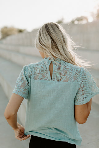 The Lacy Top - Sage