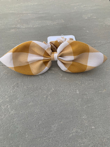 Butterscotch Big Checkered Scrunchie