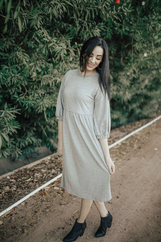 The Keegan Dress - Heather Grey